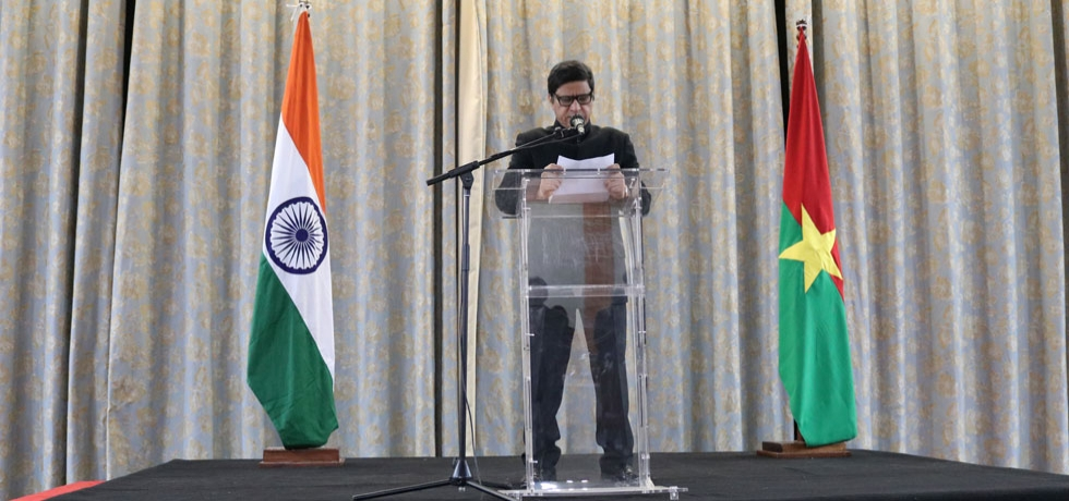 Republic Day Celebration, 2020 function of Embassy of India, Ouagadougou.